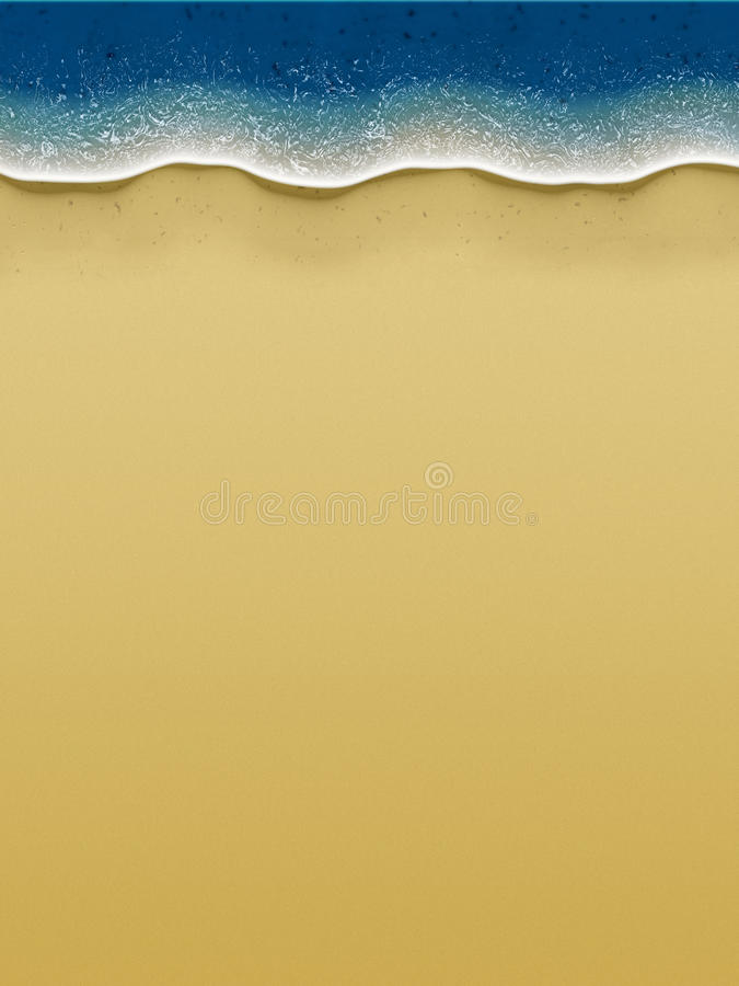 Download Birds-view Of Waves Rolling Over The Beach Stock Illustration - Image: 10394171