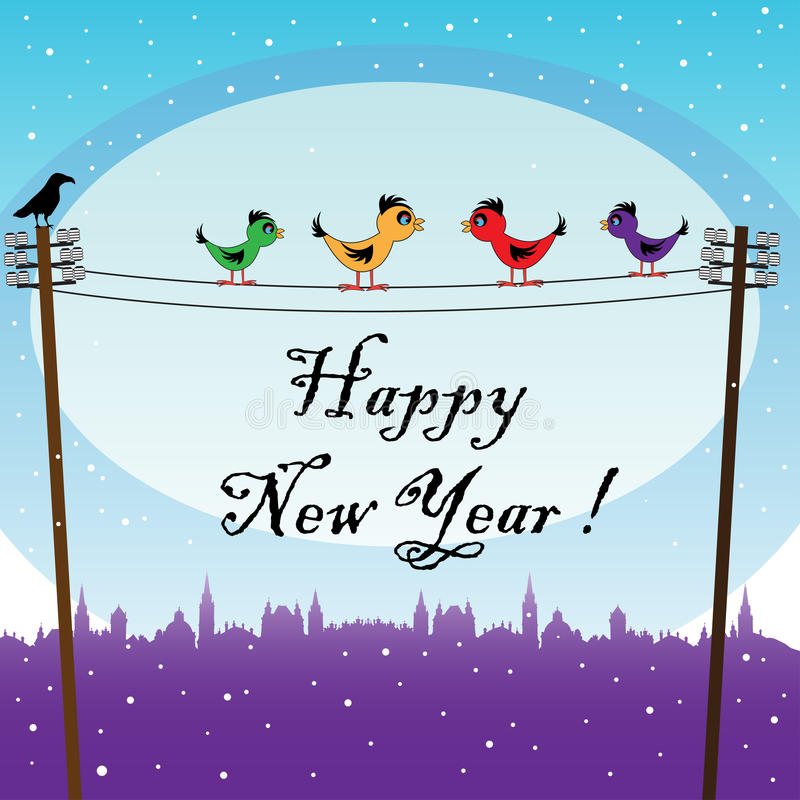 Download Birds Waiting The New Year Stock Images - Image: 17310124