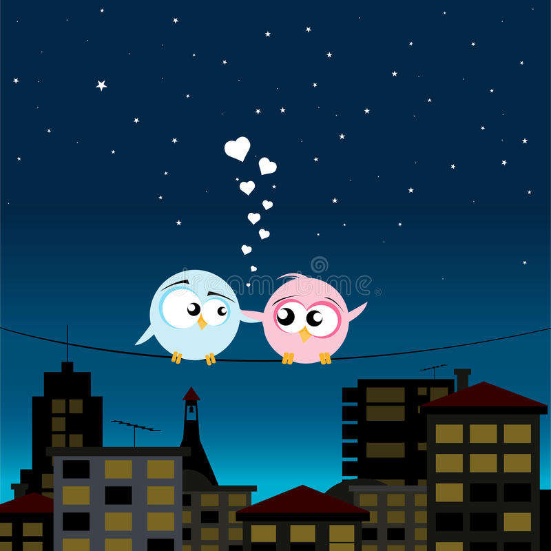Download Birds On A Wire Royalty Free Stock Photos - Image: 28109038