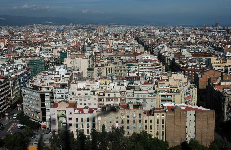Birdseye Barcelona stock photo