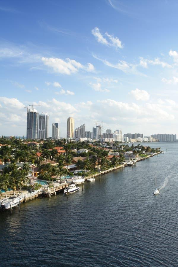 Birdseye di Miami fotografia stock libera da diritti