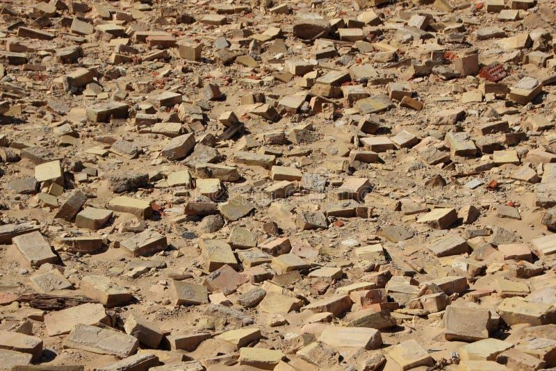 Birdseye su Clay Building Brick Tiles in sabbia immagini stock libere da diritti