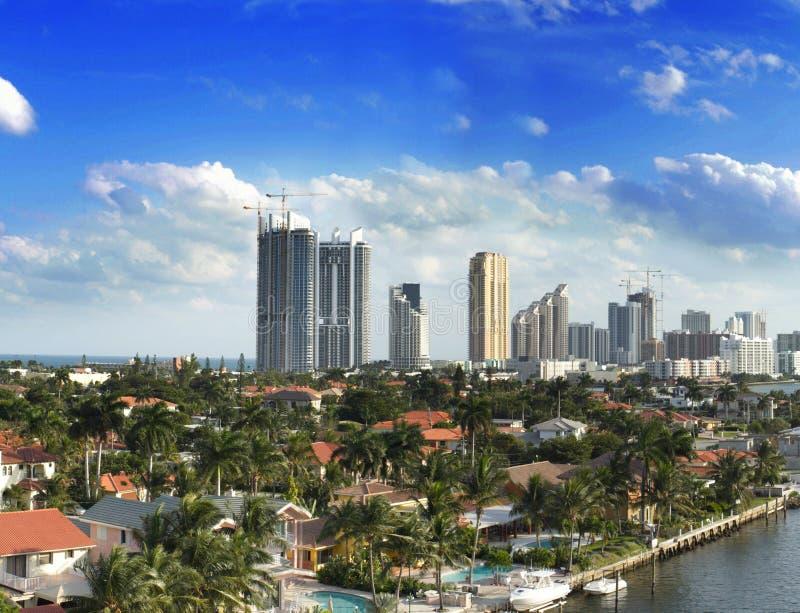 Birdseye van Miami stock fotografie
