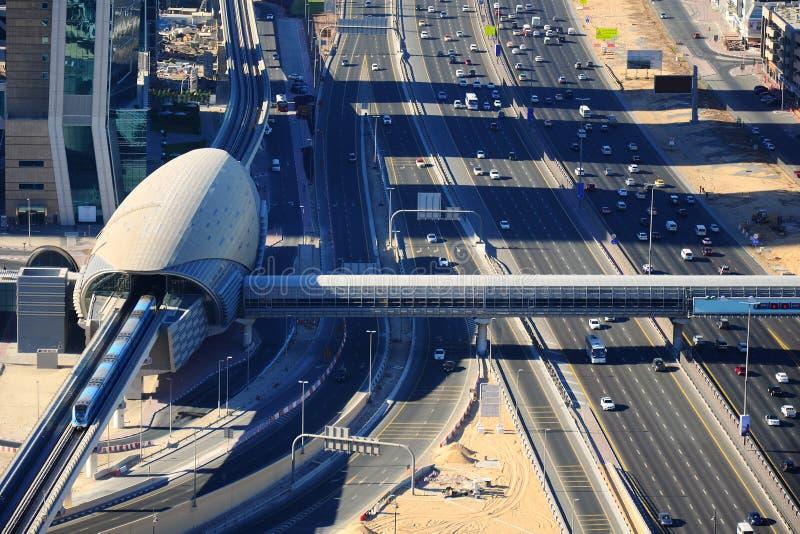 Birdseye widok Dubaj obraz royalty free