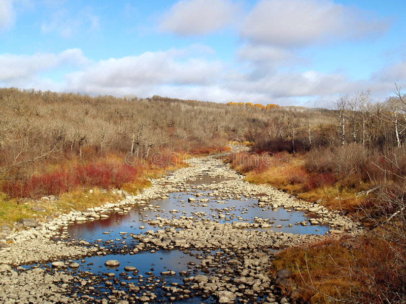 Birdtail River in Fall. The Birdtail River near the town of Birtle, Manitoba, Canada. Taken the weekend of Canadian Thanksgiving royalty free stock images