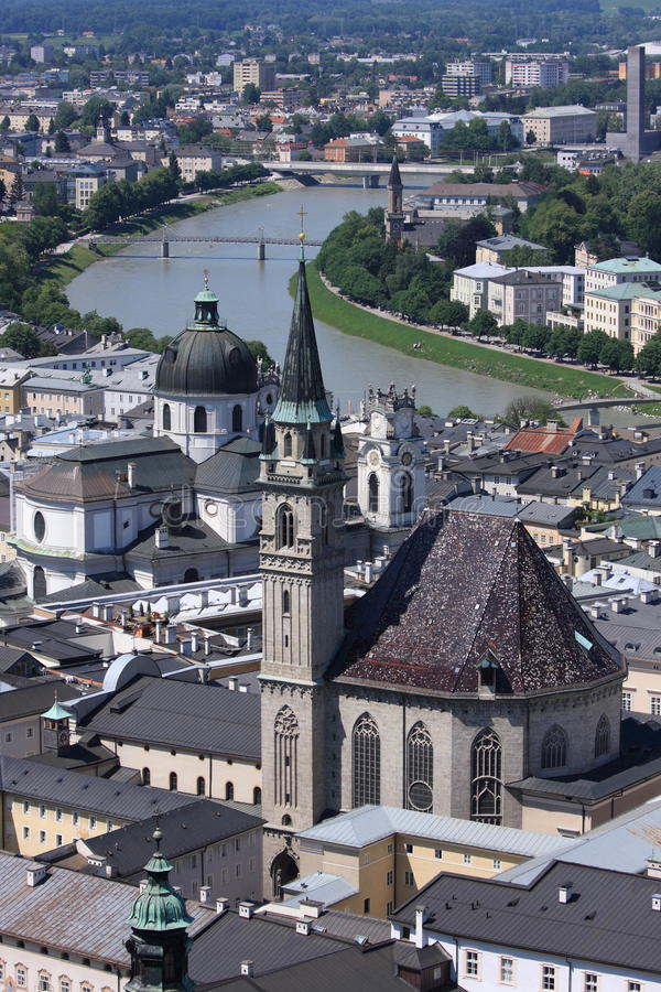 Free Birdview Of Salzburg, Austria Stock Photos - 9639173
