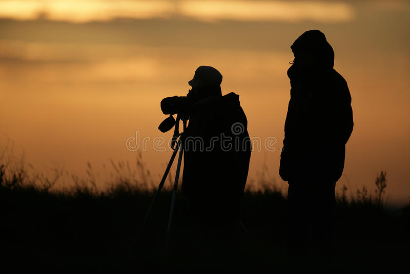 Birdwatchers stockfotografie