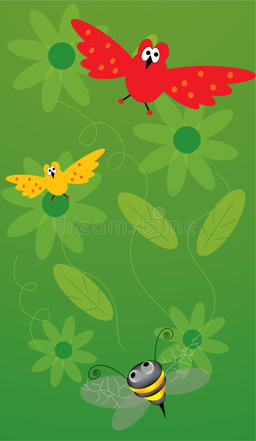 Download Birdy in the sky stock vector. Illustration of leave, bright - 2273702