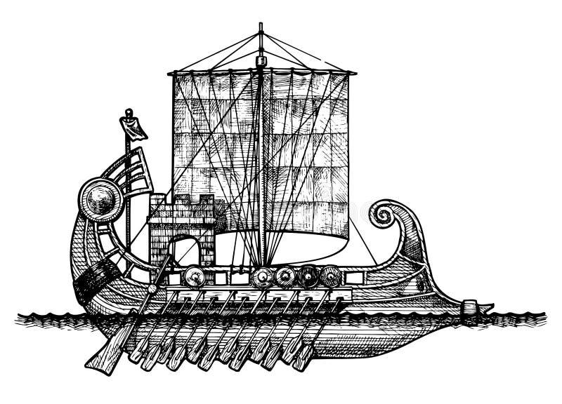 Bireme royalty-vrije illustratie