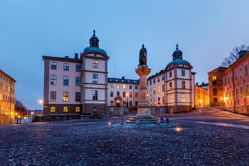 Birger Jarls Square in Riddarholmen in the Morning royalty free stock photography