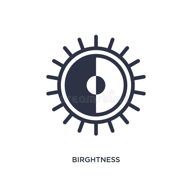 birghtnesspictogram op witte achtergrond Eenvoudige elementenillustratie van gebruikersinterfaceconcept stock illustratie