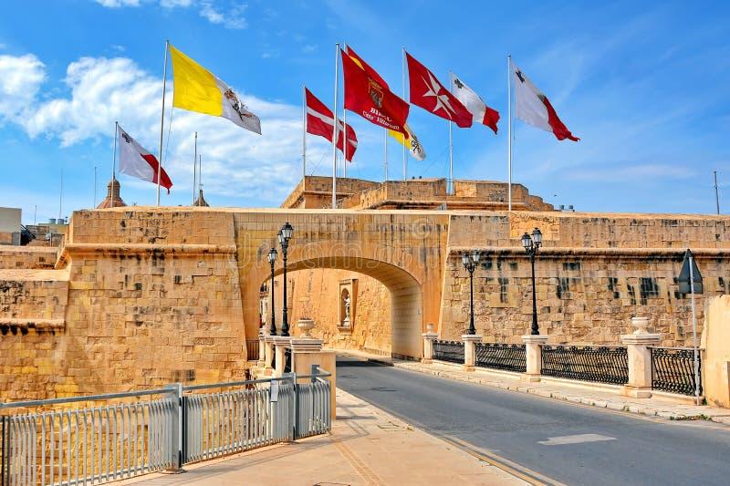 Birgu Vittoriosa, Μάλτα στοκ φωτογραφία με δικαίωμα ελεύθερης χρήσης
