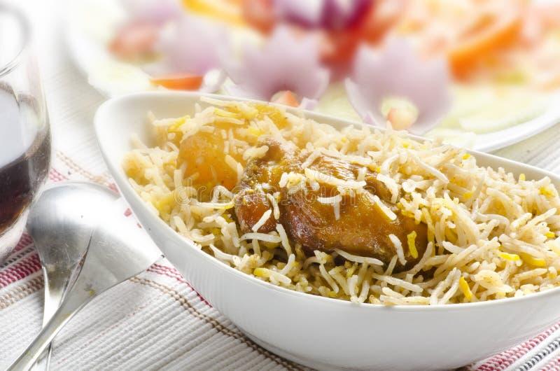 Biriyani delicioso da galinha foto de stock