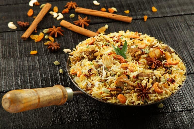 Biriyani indiano da carne de carneiro foto de stock