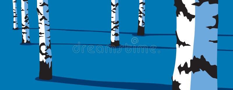 Birken-Bäume stock abbildung