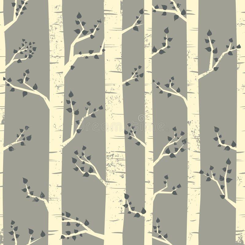 Birken-Waldhintergrund vektor abbildung