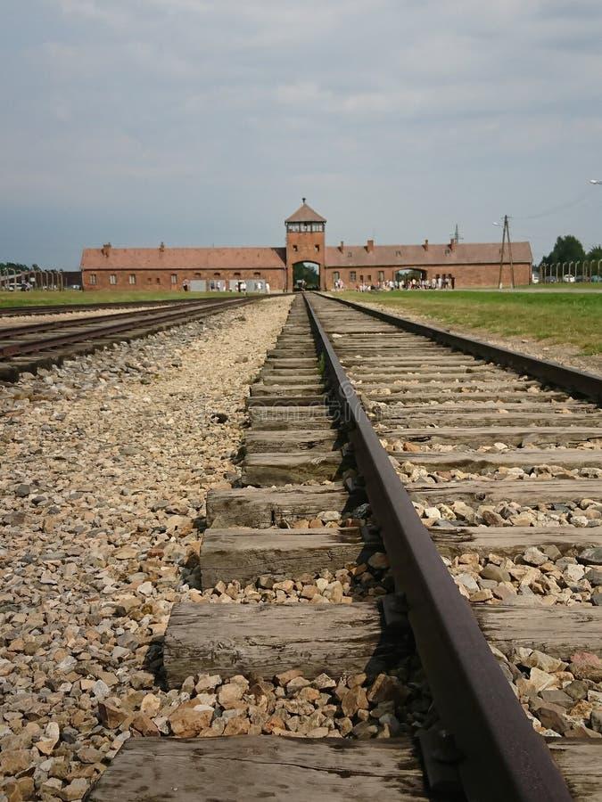 Birkenau de Auschwitz imagem de stock