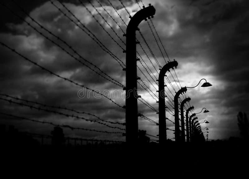 Birkenau di Auschwitz fotografia stock libera da diritti