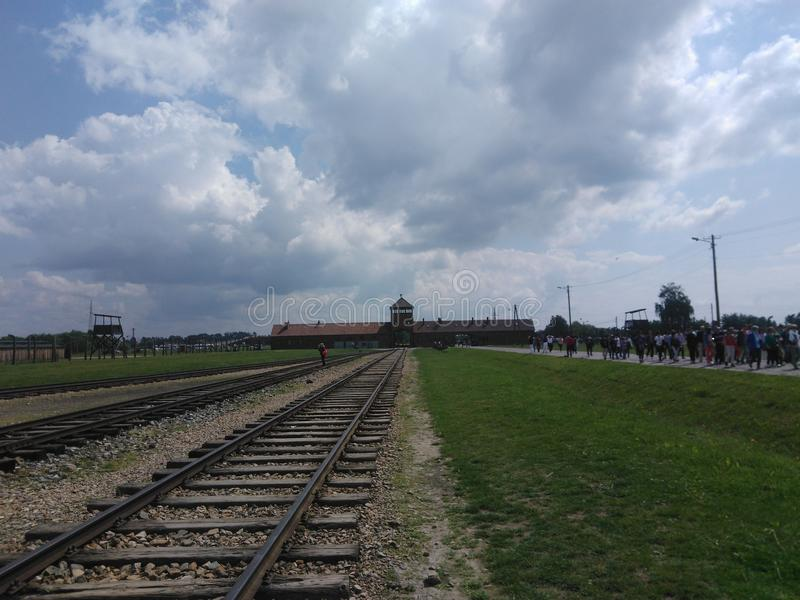 Birkenau-Lager Auschwitz I stockfoto