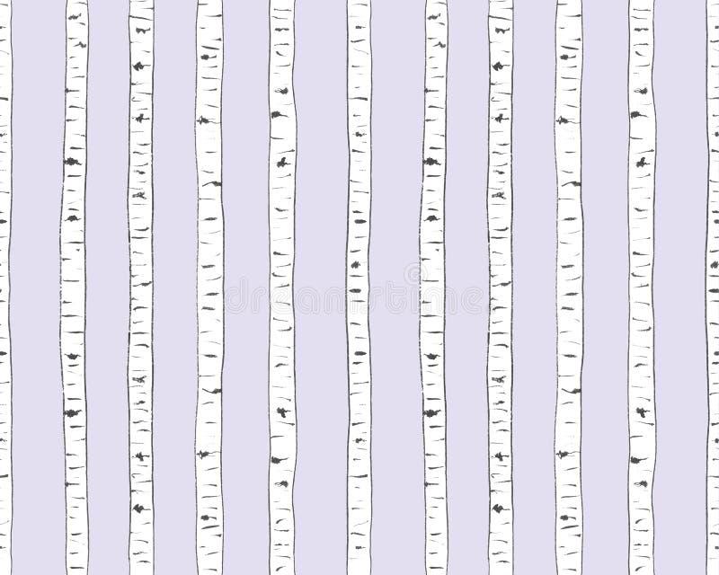 Birkenbeschaffenheit auf Lavendel stockbild