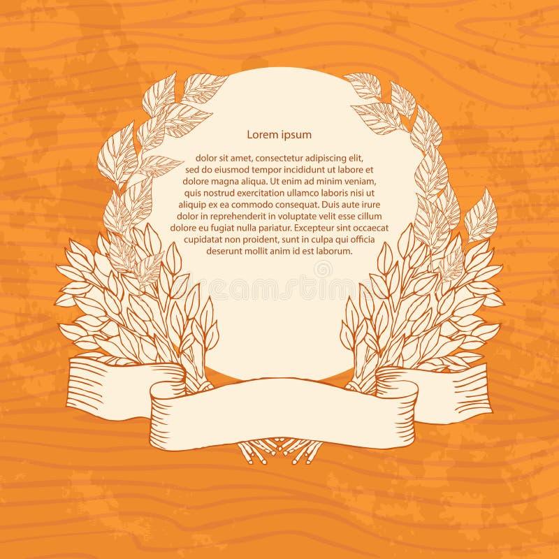 Birkenbesen für das Bad auf einem hölzernen Hintergrund Entwerfen Sie Schablonenfahnen, Karten, Karten für Sauna, Bad Platz für t stock abbildung