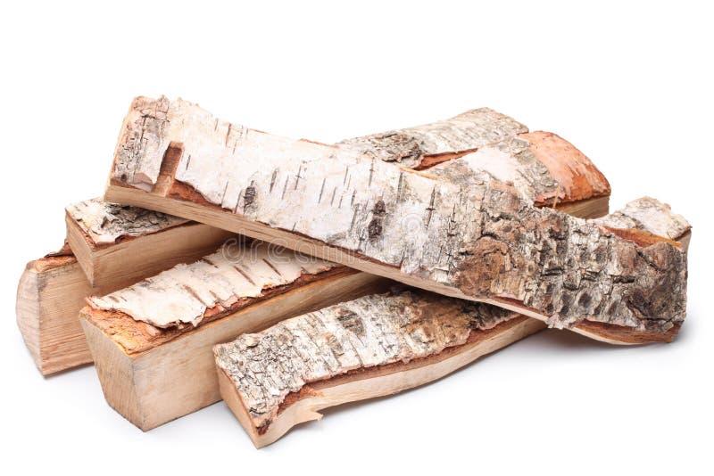 Birkenbrennholz lizenzfreies stockfoto