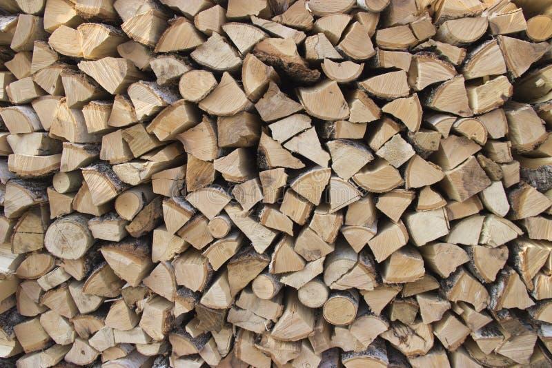 Birkenbrennholz lizenzfreies stockbild