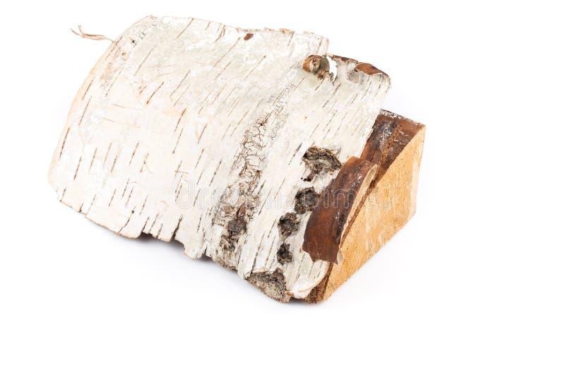 Birkenbrennholzklotz stockbilder
