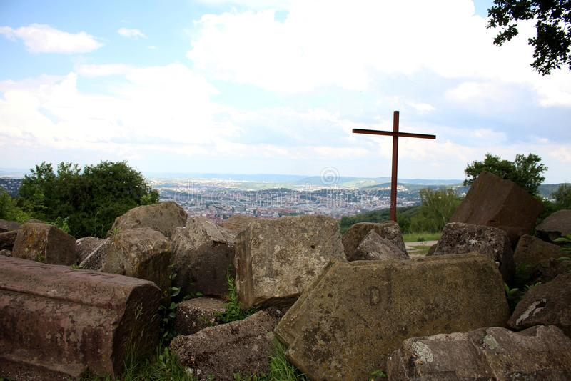 Birkenkopf - Monte Scherbelino - Stuttgart royaltyfri fotografi
