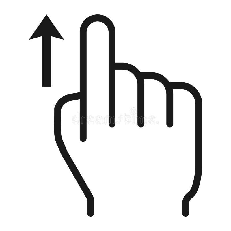Birle encima de gestos de la línea icono, del tacto y de mano stock de ilustración