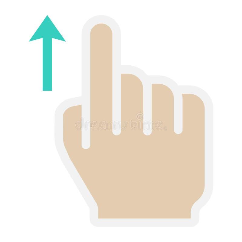Birle encima de gestos planos del icono, del tacto y de mano libre illustration