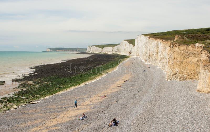 Birling Gap nära Eastbourne, Sussex, England fotografering för bildbyråer