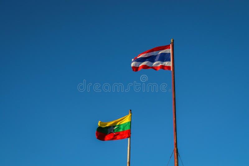 birmańczyk flaga obrazy stock