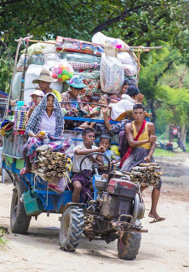 Birmańscy rolnicy w Myanmar zdjęcia royalty free