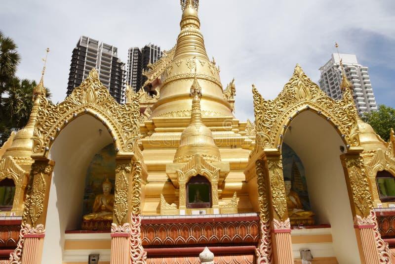 Birmańska świątynia w Penang, Malezja fotografia stock