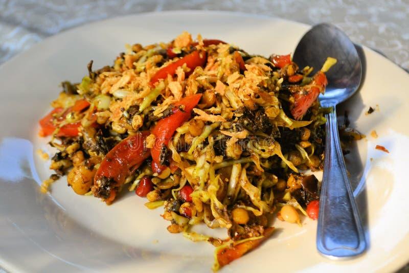 Birmańska Herbaciana liść sałatka Lahpet obrazy stock