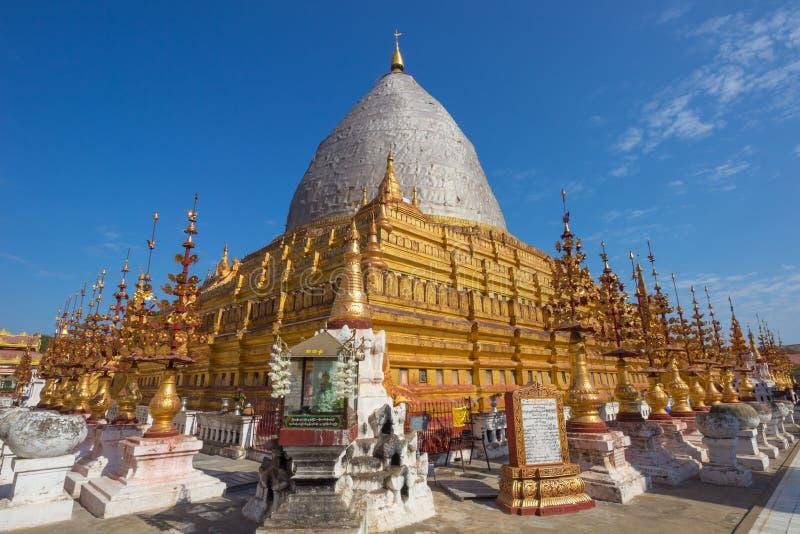 Birma claro dos tamples bagan de Myanmar fotografia de stock royalty free
