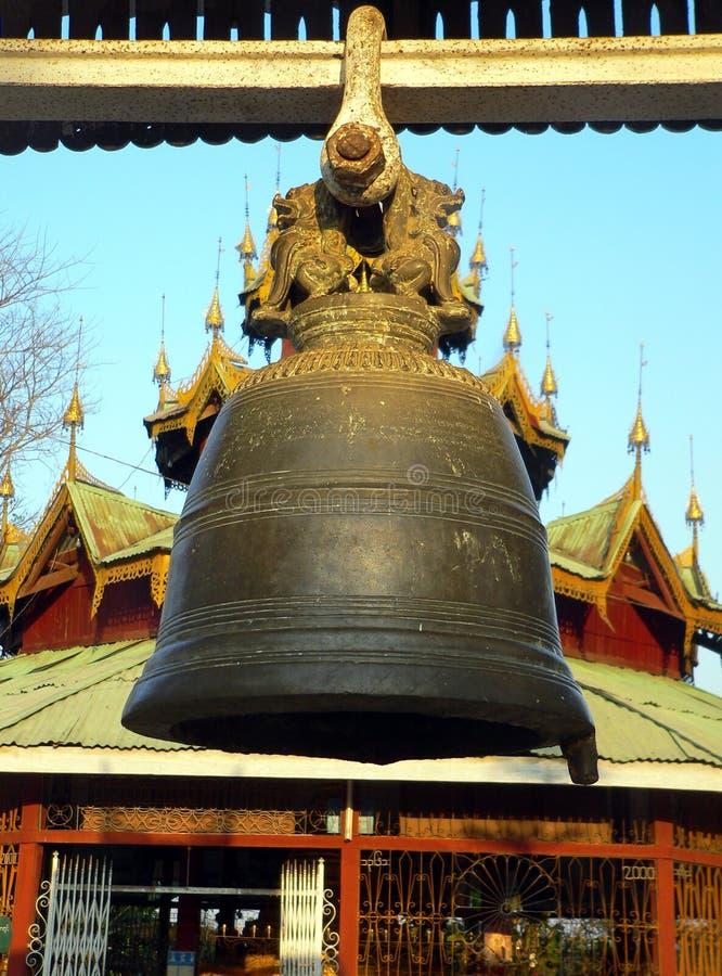 Birma. De Klok van het Klooster van Kyaukme royalty-vrije stock fotografie