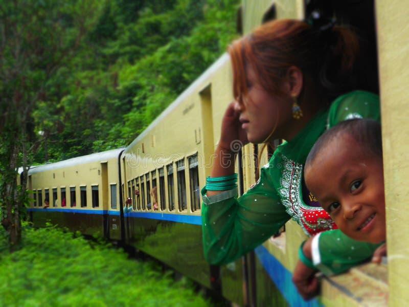 Birma-Junge! stockbilder