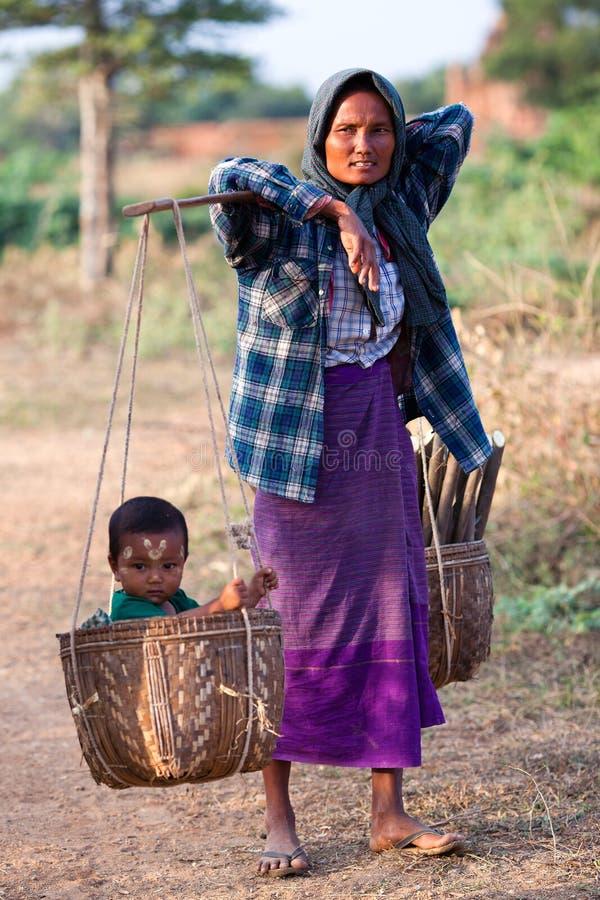 Birmanische Frau stockfoto