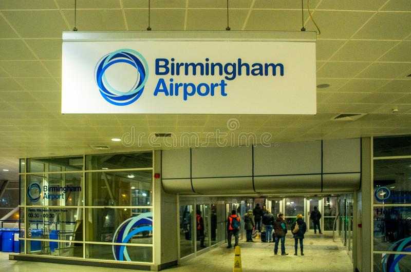 Birmingham airport building in Birmingham, United Kingdom stock images