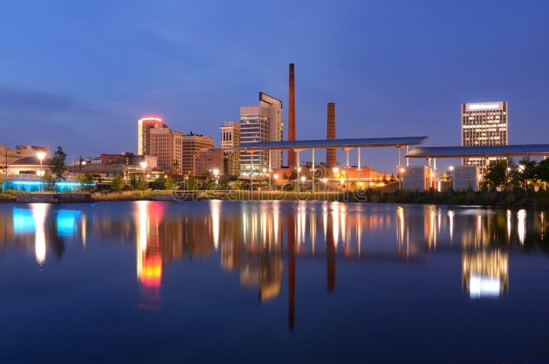 Birmingham Alabama horisont royaltyfri fotografi