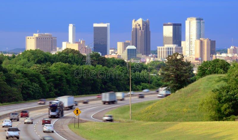 Birmingham Alabama horisont arkivfoto