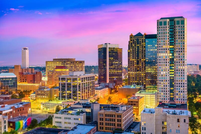 Birmingham, Alabama Skyliune foto de stock