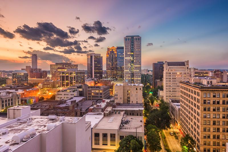 Birmingham, Alabama, USA Cityscape royalty free stock photography