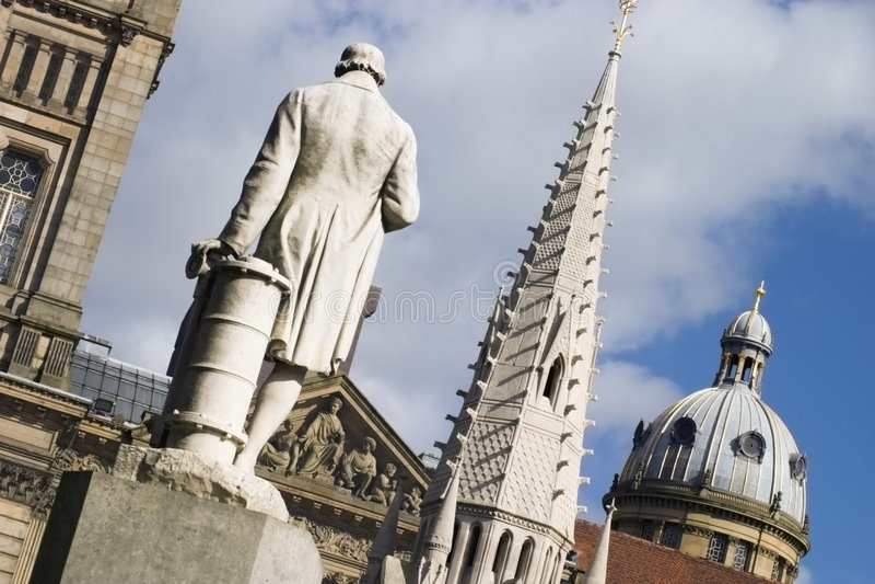 Birmingham architekturę centrum stary obraz royalty free
