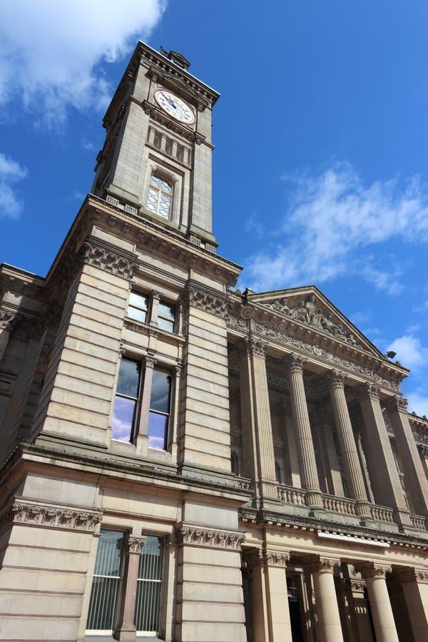Birmingham Art Gallery. Birmingham UK landmark - Museum and Art Gallery. Seen from public square. West Midlands, England royalty free stock image