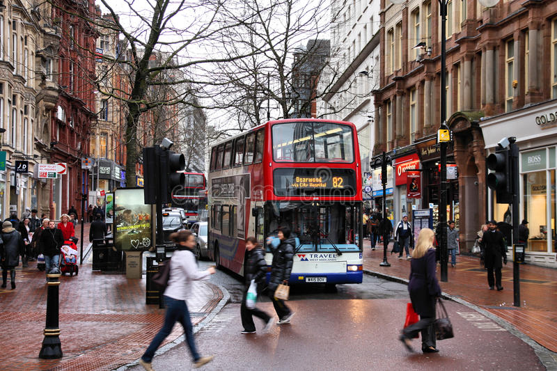 birmingham buss arkivfoton