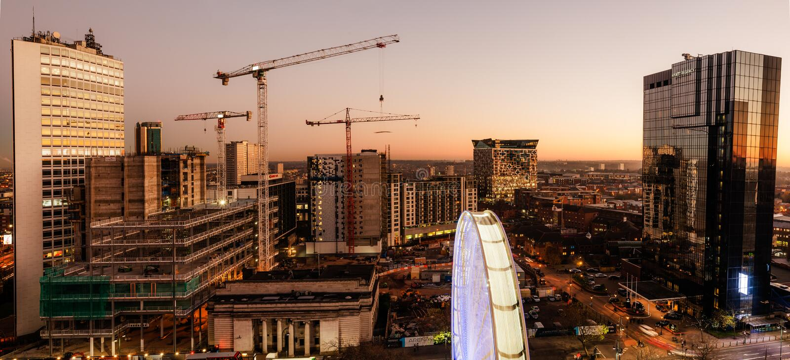 Birmingham City Construction stock image