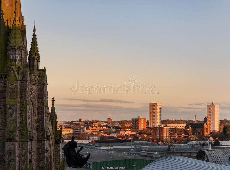 Birmingham England. Birmingham is a city in England with multiple Industrial Revolution-era landmarks that speak to its history as a manufacturing powerhouse stock photos